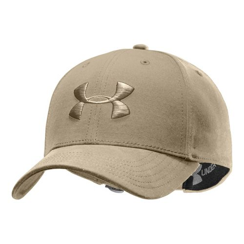 Mens Under Armour UA Washed Adjustable Cap Headwear - Light Khaki/Canvas