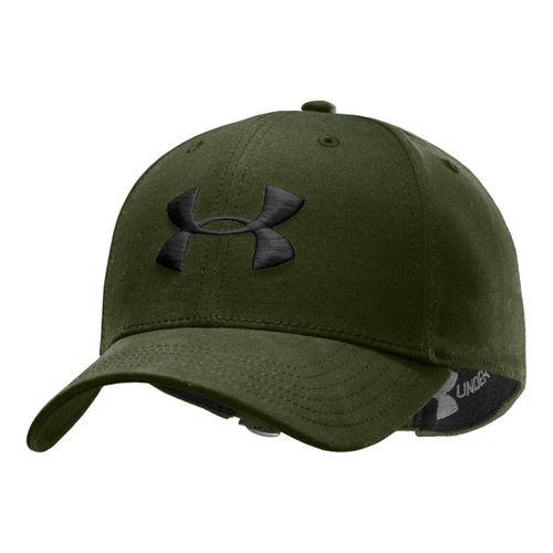 Mens Under Armour UA Washed Adjustable Cap Headwear - Rough/Black