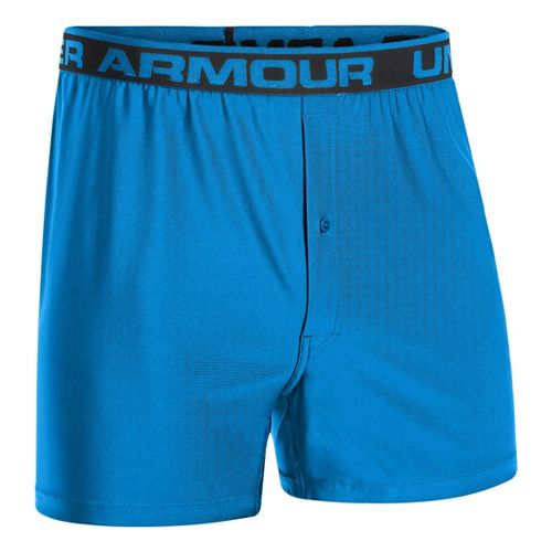 Mens Under Armour Original Boxer Underwear Bottoms - Electric Blue/Black XXL