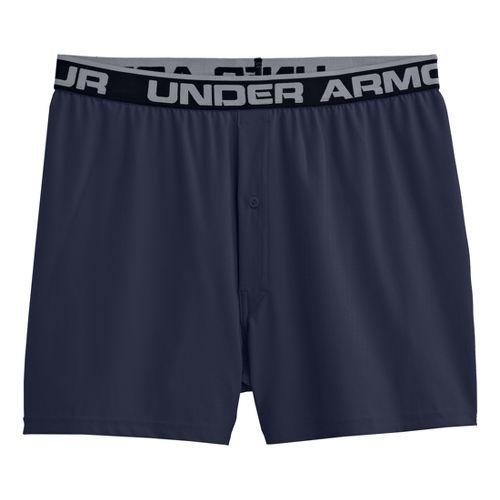 Mens Under Armour Original Boxer Underwear Bottoms - Midnight Navy/Black S