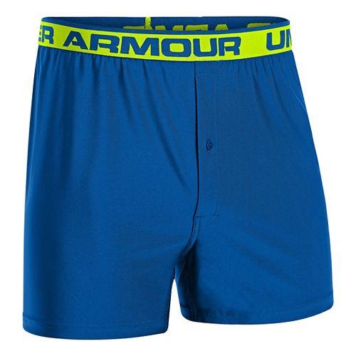 Mens Under Armour Original Boxer Underwear Bottoms - Scatter/Hi-Viz Yellow L