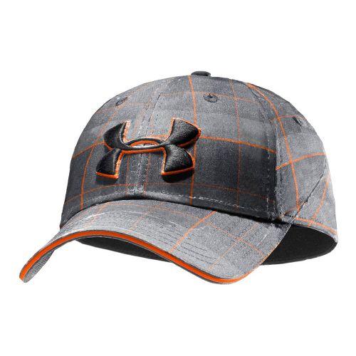Mens Under Armour UA Resonance Stretch Fit Cap Headwear - Graphite/Steel L/XL