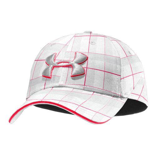 Mens Under Armour UA Resonance Stretch Fit Cap Headwear - White/Aluminum XL/XXL