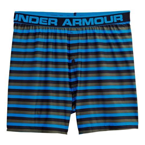 Mens Under Armour The Original Printed Boxer Underwear Bottoms - Electric Blue/Black XXL