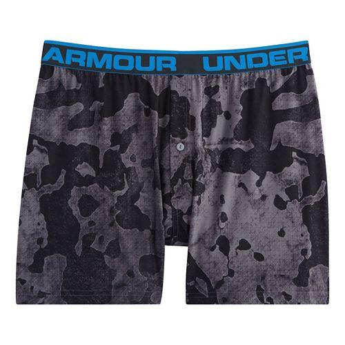 Mens Under Armour The Original Printed Boxer Underwear Bottoms - Graphite/Anthracite XL