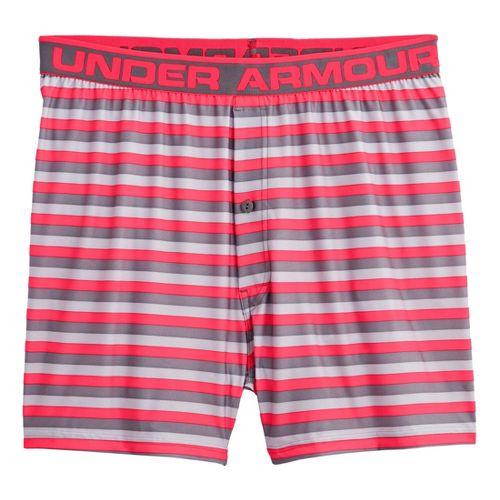 Mens Under Armour The Original Printed (Hanging) Boxer Underwear Bottoms - Neo Pulse/Graphite M