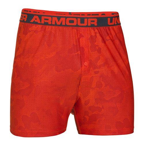 Mens Under Armour The Original Printed Boxer Underwear Bottoms - Volcano/Radiant Red XXL