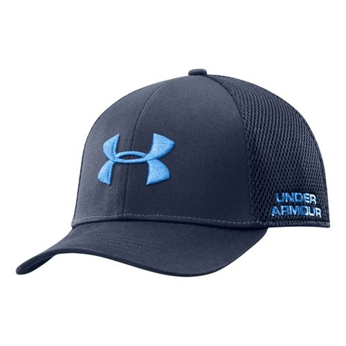 Mens Under Armour UA Classic Mesh Stretch Fit Cap Headwear - Academy L/XL