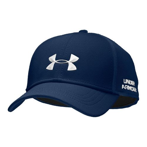 Mens Under Armour UA Classic Mesh Stretch Fit Cap Headwear - Academy/White M/L