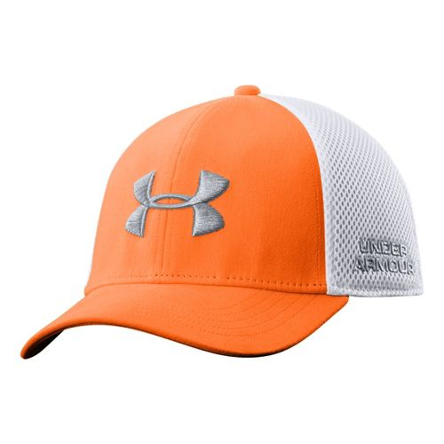 Mens Under Armour UA Classic Mesh Stretch Fit Cap Headwear - Blaze Orange M/L