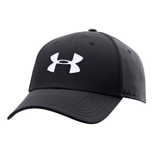 Mens Under Armour UA Golf Headline Stretch Fit Cap Headwear - Black/Hi-Viz Yellow M/L