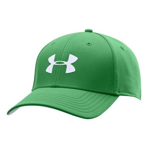 Mens Under Armour UA Golf Headline Stretch Fit Cap Headwear - Feisty/White M/L