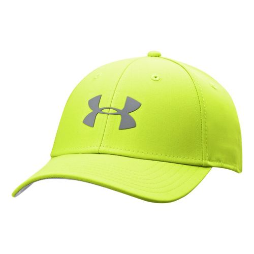 Mens Under Armour UA Golf Headline Stretch Fit Cap Headwear - Hi-Viz Yellow/Steel L/XL