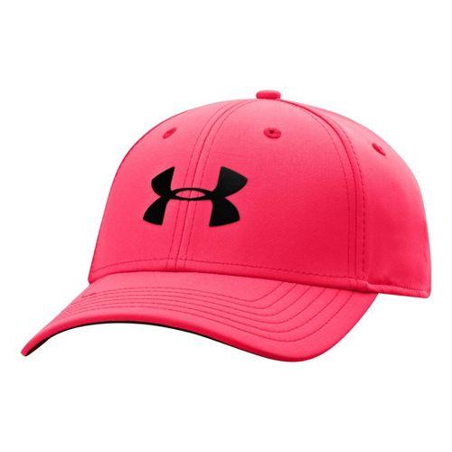 Mens Under Armour UA Golf Headline Stretch Fit Cap Headwear - Neo Pulse/Black L/XL