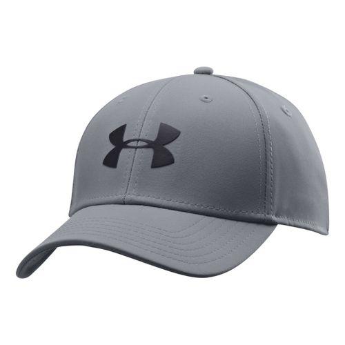 Mens Under Armour UA Golf Headline Stretch Fit Cap Headwear - Steel/Black M/L