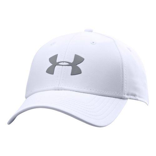 Mens Under Armour UA Golf Headline Stretch Fit Cap Headwear - White/Steel L/XL