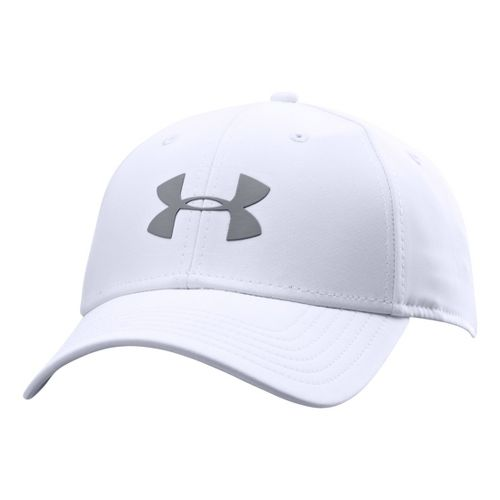 Mens Under Armour UA Golf Headline Stretch Fit Cap Headwear - White/Steel M/L