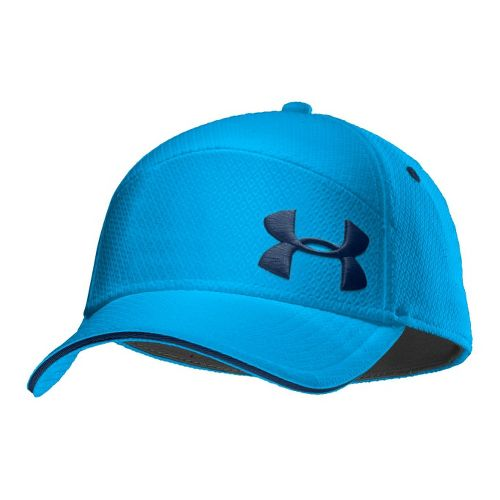 Mens Under Armour UA Offset Golf Stretch Fit Cap Headwear - Electric Blue/Academy XL/XXL