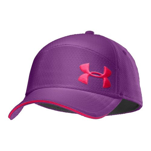 Mens Under Armour UA Offset Golf Stretch Fit Cap Headwear - Pride/Neo Pulse M/L