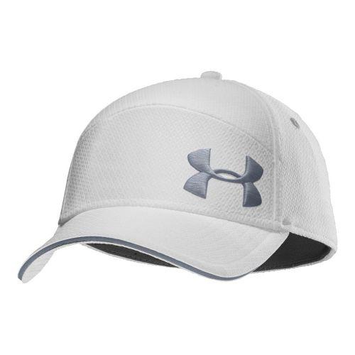 Mens Under Armour UA Offset Golf Stretch Fit Cap Headwear - White/Steel M/L