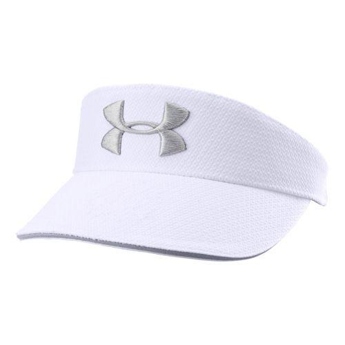 Mens Under Armour UA Tour Visor Headwear - White/Graphite
