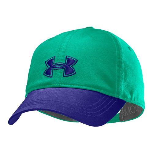 Womens Under Armour UA Boyfriend Adjustable Cap Headwear - Emerald Lake/Caspian