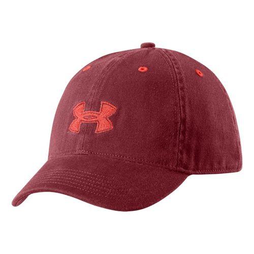 Womens Under Armour UA Boyfriend Adjustable Cap Headwear - Henna