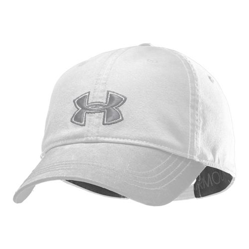 Womens Under Armour UA Boyfriend Adjustable Cap Headwear - White/Aluminum