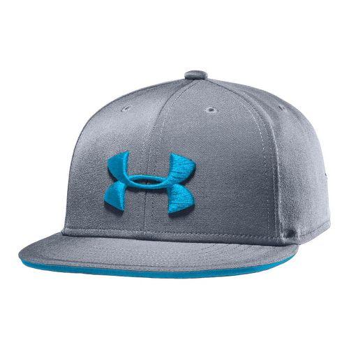 Kids Under Armour Boys Huddle Snap Back Cap Headwear - Steel/Pirate Blue