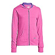 Kids Under Armour Girls Triblend Full Zip Hoody Running Jackets