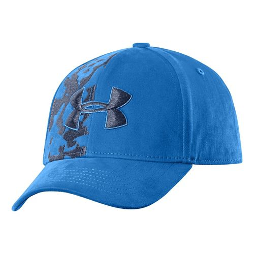 Kids Under Armour Boys UA Big Logo Stretch Fit Cap Update Headwear - Scatter XS/S ...