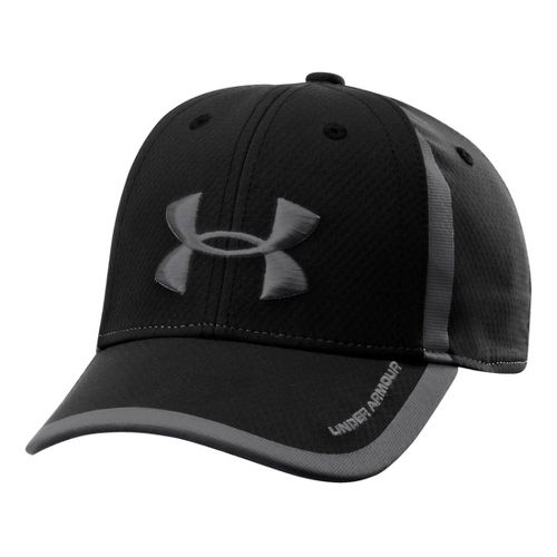 Kids Under Armour Boys UA Sideline Mesh Stretch Fit Cap Headwear - Black/Graphite S/M