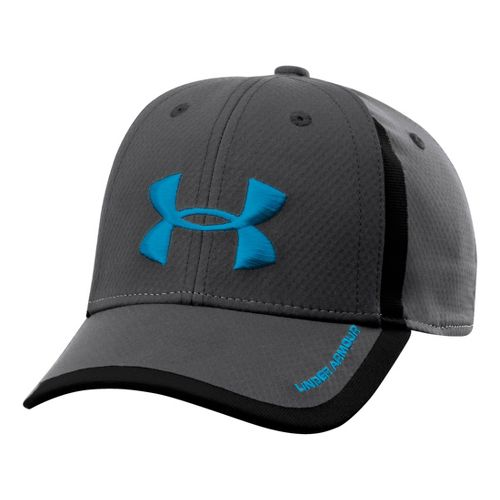Kids Under Armour Boys UA Sideline Mesh Stretch Fit Cap Headwear - Charcoal/Black S/M
