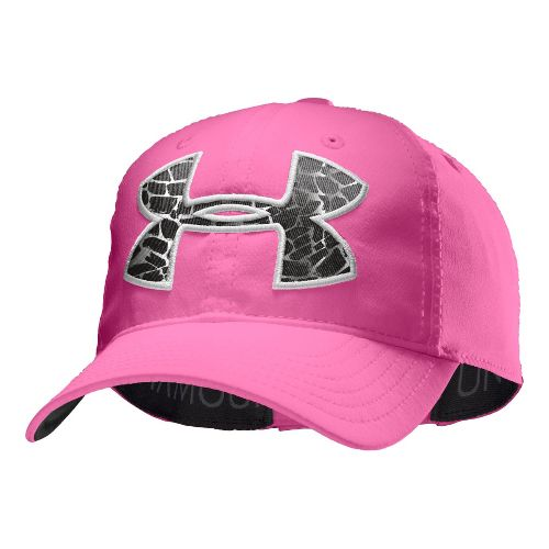 Kids Under Armour Girls UA Big Logo Adjustable Cap Headwear - Chaos/Silver