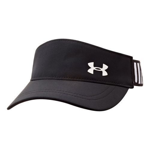 Kids Under Armour Girls UA Headline Adjustable Visor Headwear - Black/White