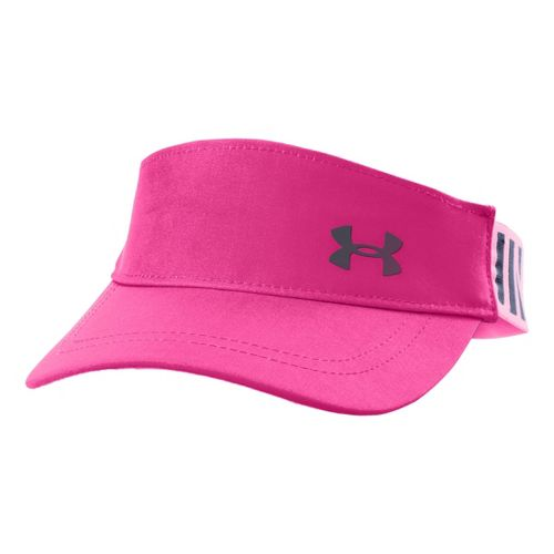 Kids Under Armour Girls UA Headline Adjustable Visor Headwear - Chaos/Lead