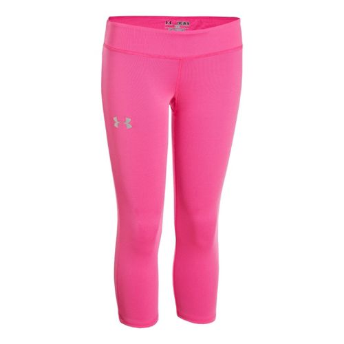 Kids Under Armour Girls HeatGear Sonic Capri Tights - Island Orchid YXL