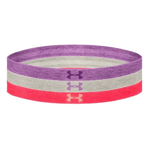 Womens Under Armour Heathered Multi Pack Headband Headwear - Exotic Bloom/Neo Pulse