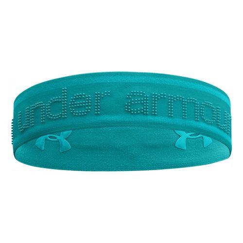 Womens Under Armour UA 2 IN 1 Headband Headwear - Aquaduct