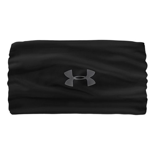 Womens Under Armour UA Extra Wide Headband Headwear - Black