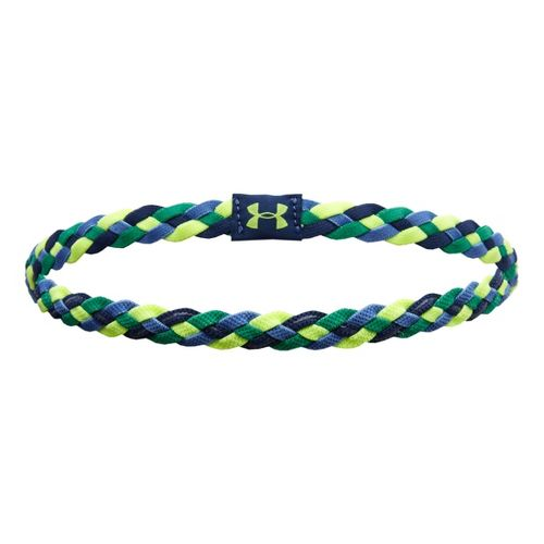 Womens Under Armour UA 4 Braid Mini Headband Headwear - Indigo/Emerald Lake