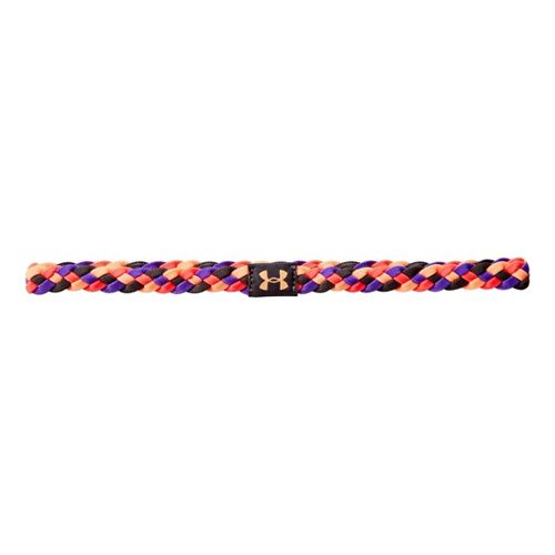 Womens Under Armour UA 4 Braid Mini Headband Headwear - Lead/Neo Pulse