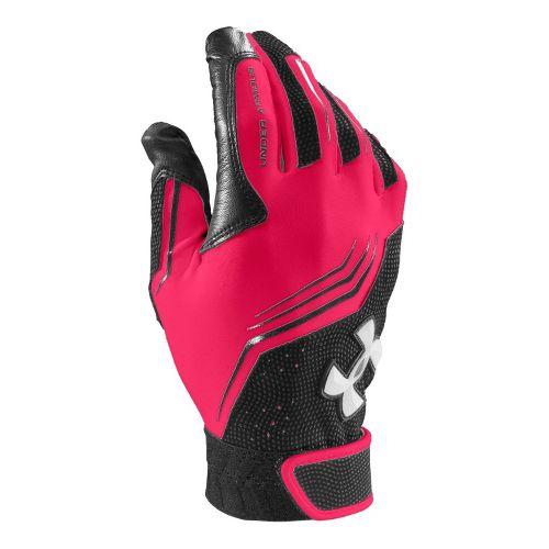 Mens Under Armour UA Clean Up Batting Glove Handwear - Neo Pulse/Black M