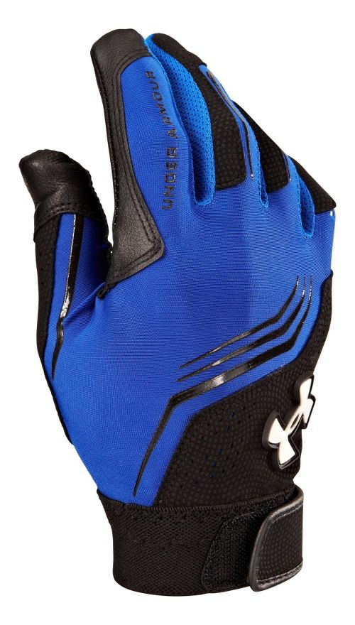 Under Armour Boys UA Clean-Up Batting Glove Handwear - Royal/Black L