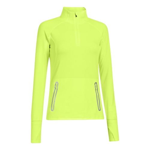 Womens Under Armour Storm Melange Long Sleeve 1/4 Zip Technical Tops - X-Ray XS