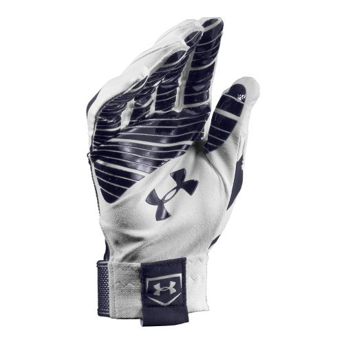 Mens Under Armour UA Motive Batting Glove Handwear - White/Midnight L