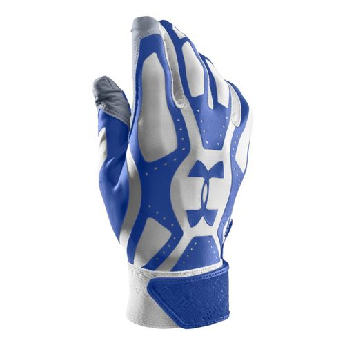 Mens Under Armour Boys UA Motive Batting Glove Handwear - White/Royal M