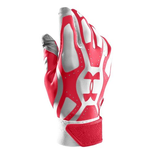 Mens Under Armour Boys UA Motive Batting Glove Handwear - White/White S