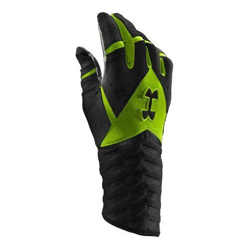 Mens Under Armour UA Highlight Batting Glove Handwear - Black/Hyper Green M