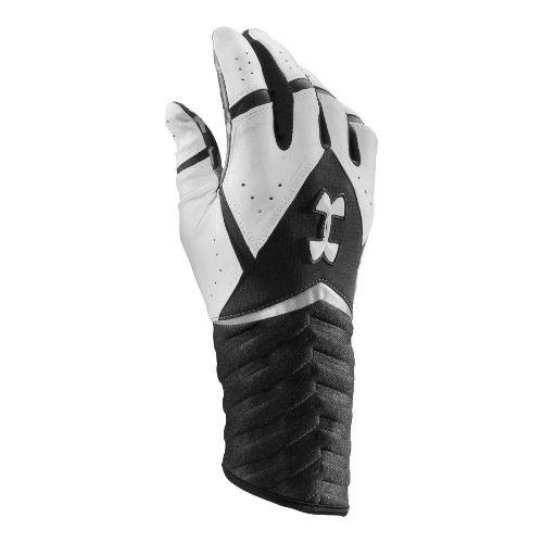 Mens Under Armour UA Highlight Batting Glove Handwear - Black/White XL